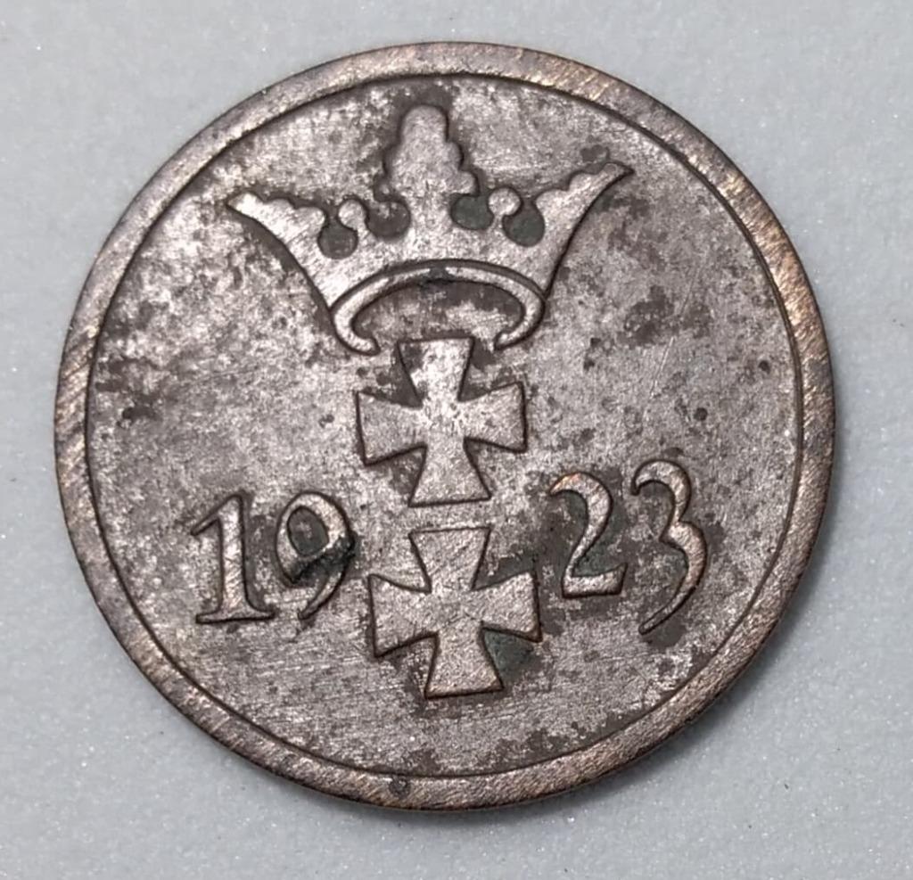 1 FENIG 1923 r. Wolne Miasto Gdańsk BCM!