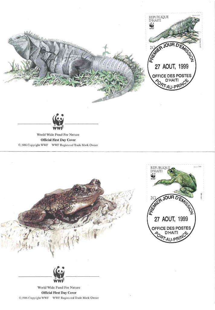 Zestaw 4 kopert WWF Haiti nr 59