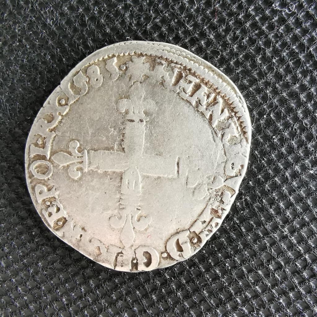 1/4 ecu 1585/L Henryk III Walezy Bayonne Srebro