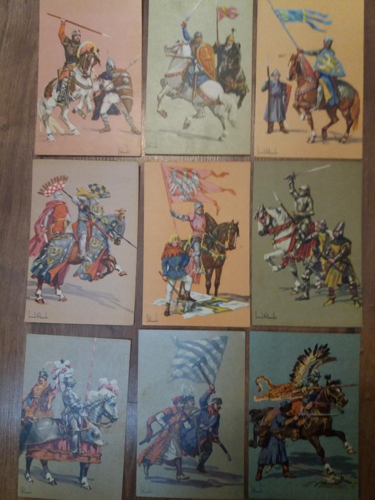 Komplet 25 pocztówek Wojsko Polskie w Tysiącleciu