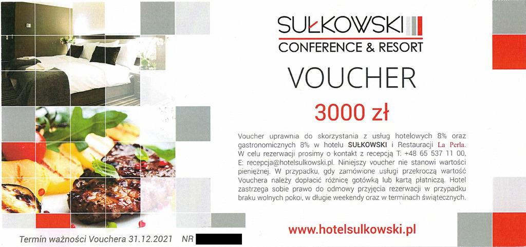 Item Voucher Hotel Sułkowski hotel Boszkowo Poznań ***