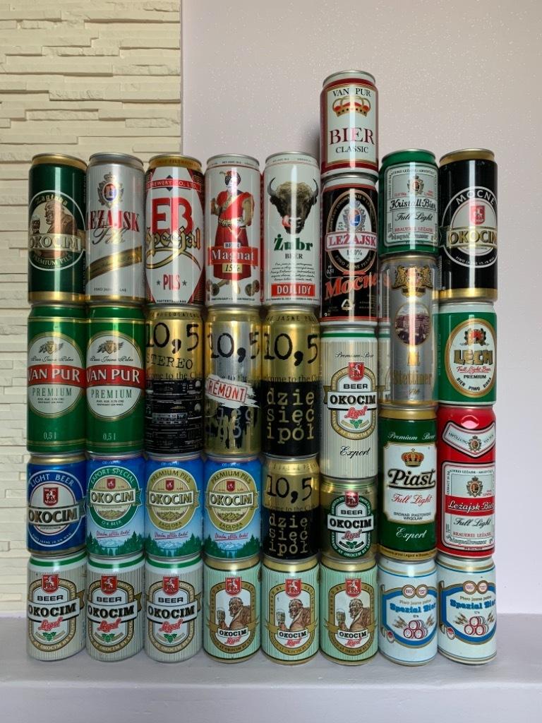 Puszki polskie po piwie puszka lata 90te piwne