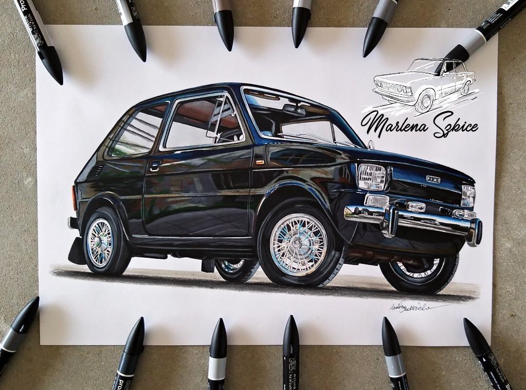 Fiat 126p Marlena Sketches рисунок