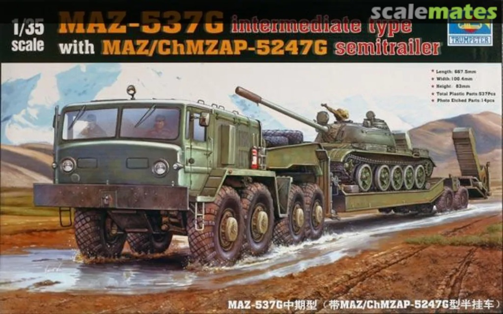 Trumpeter 00211 MAZ-537G intermediate type with MA