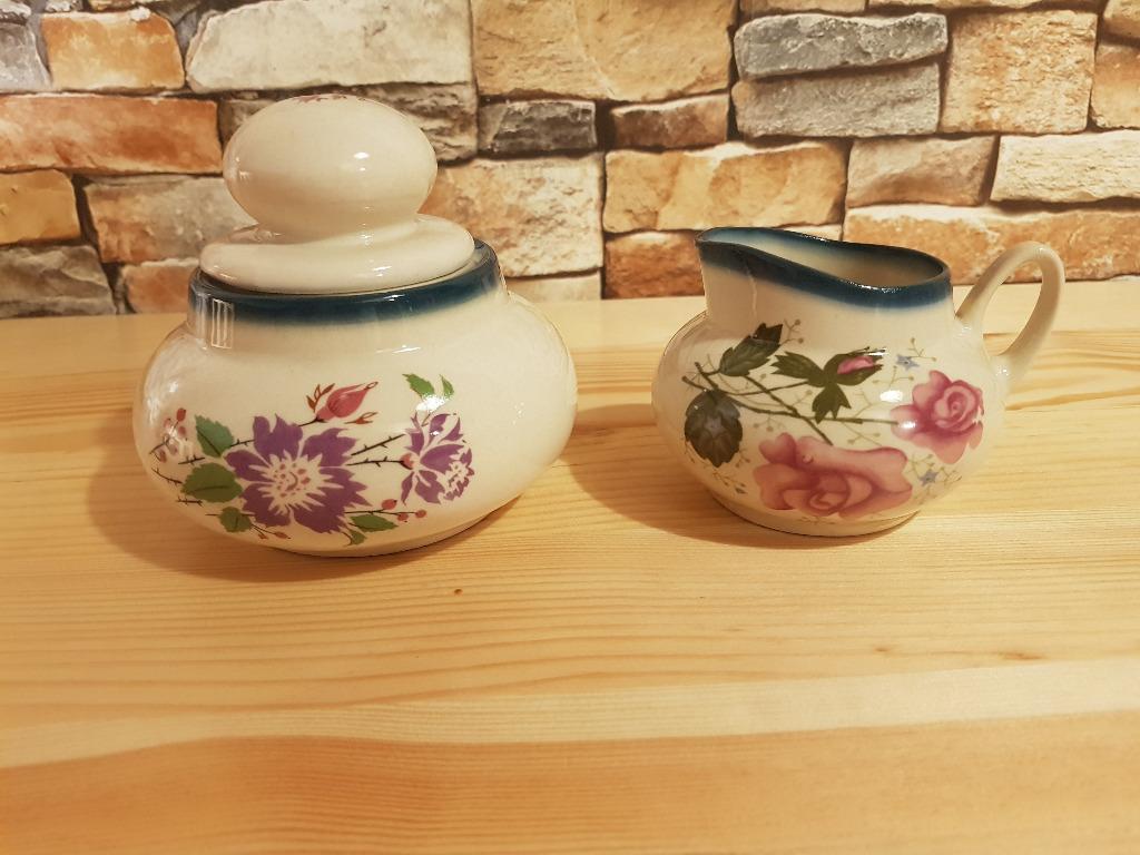 Ceramika wczesna III RP - Cukiernica i mlecznik