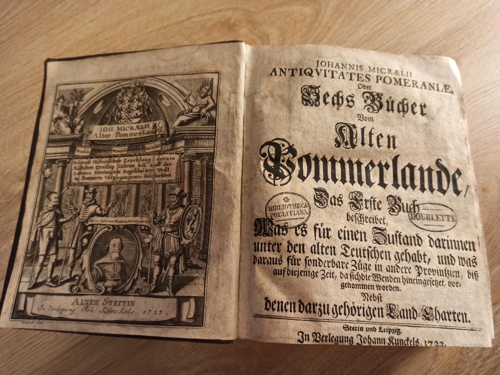 История Померании - Иоганн Микраелиус 1723 г.