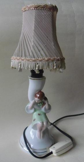 UROCZA lampka/figurka ĆMIELÓW porcelana lata 60/70