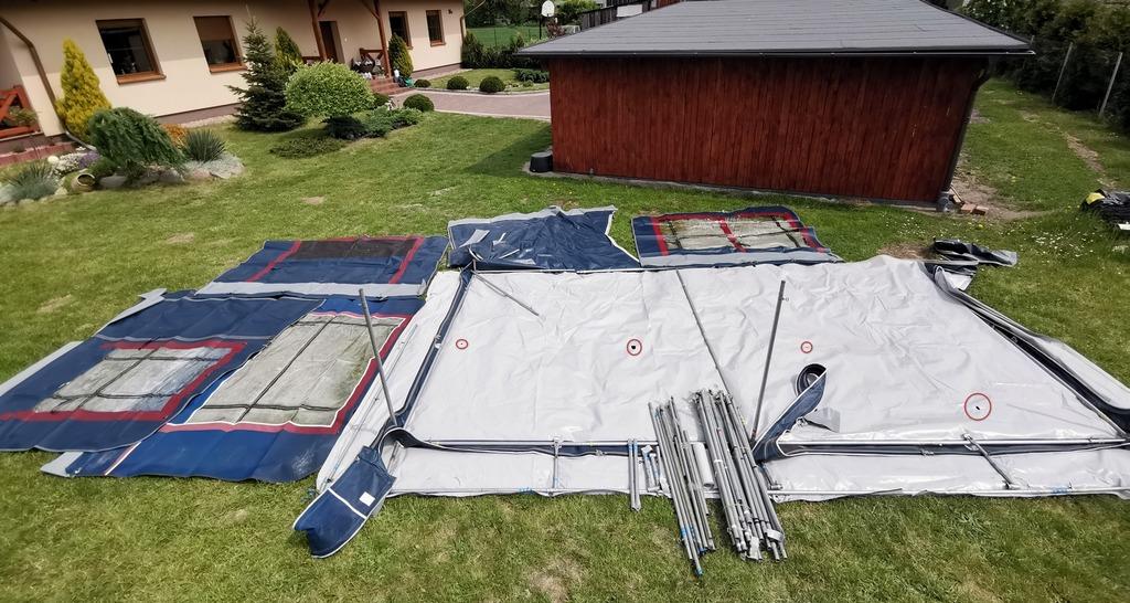 Przedsionek przyczepy kempingowej namiot, wsuwka 675 cm