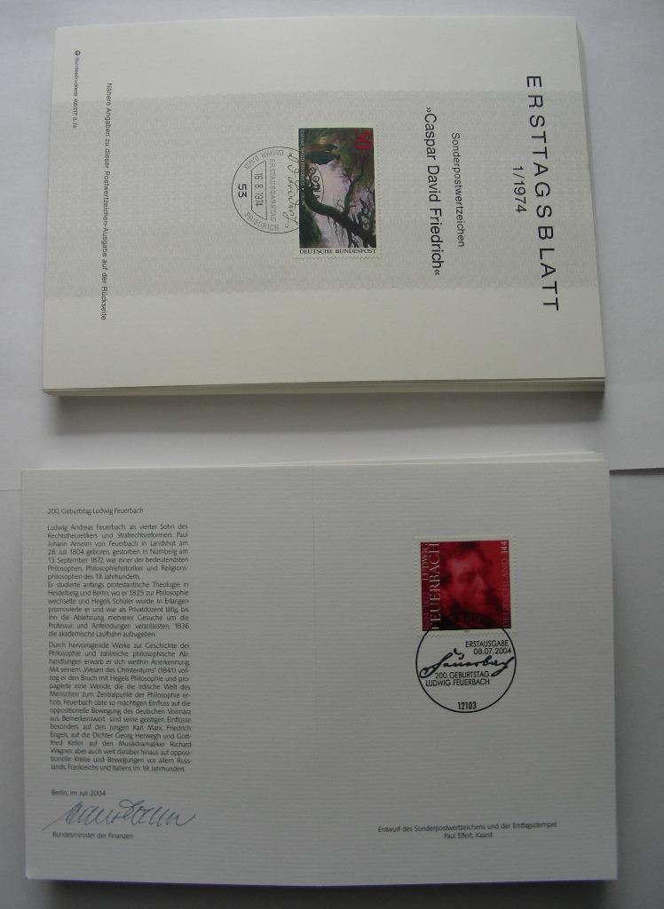Ersttagsblatt 1974-1976 i inne, ponad 100 sztuk !!