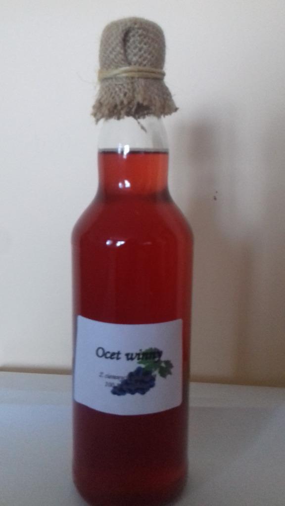 Żywy ocet z czerwonych winogron 500 ml