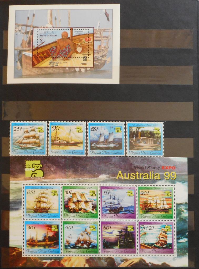 чистые почтовые марки морские суда