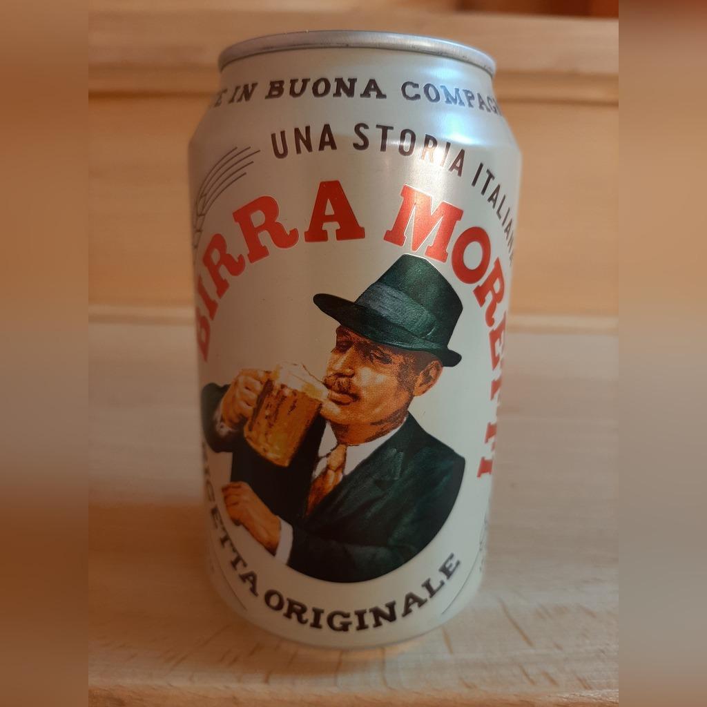 Puszka piwa  Birra Moretti, Wlochy , nie otwarta