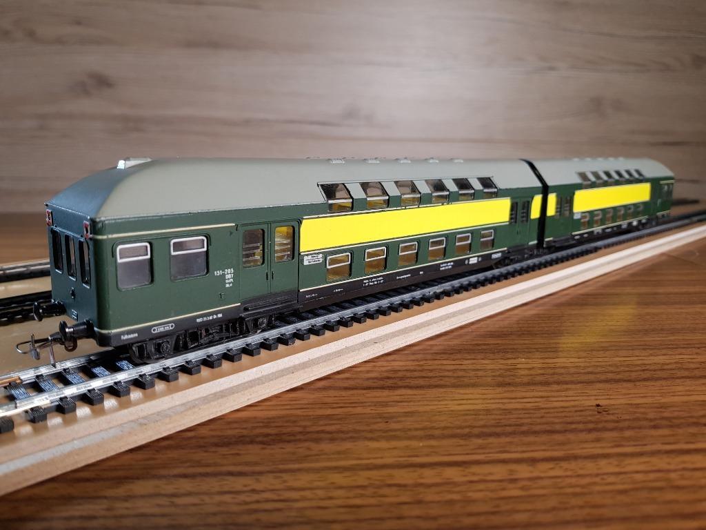 Двухэтажные экстремальные вагоны модели H0 1:87