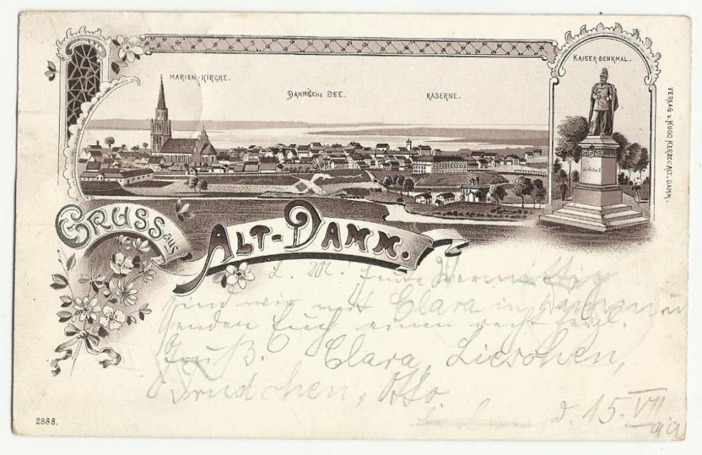 Stettin Szczecin Dąbie Litografia 1899r