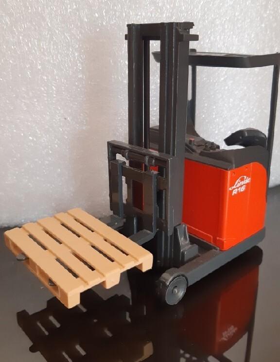 Kolekcjonerski model wózek widłowy Yale