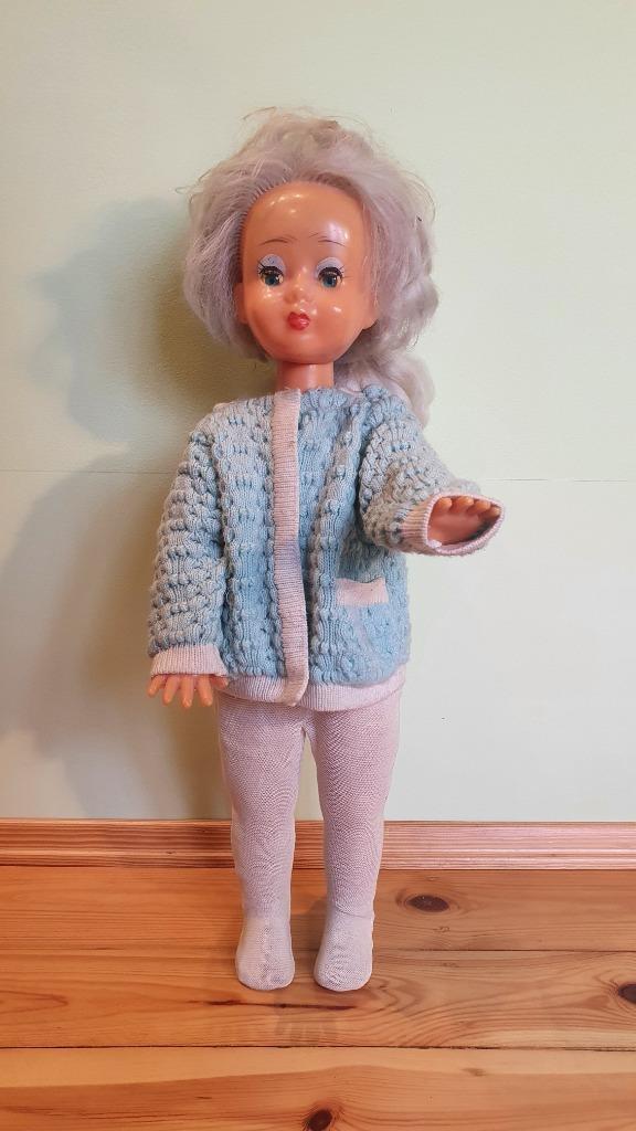 Lalka PRL 75cm chodząca
