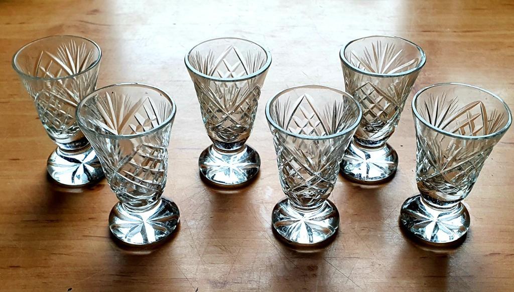 Komplet 6 szt krzyształowych kieliszków kryształ