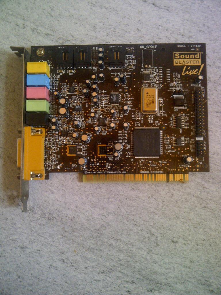 Купить ЗВУКОВАЯ КАРТА CREATIVE SOUND BLASTER LIVE CT4830 PCI на Otpravka - цены и фото - доставка из Польши и стран Европы в Украину.