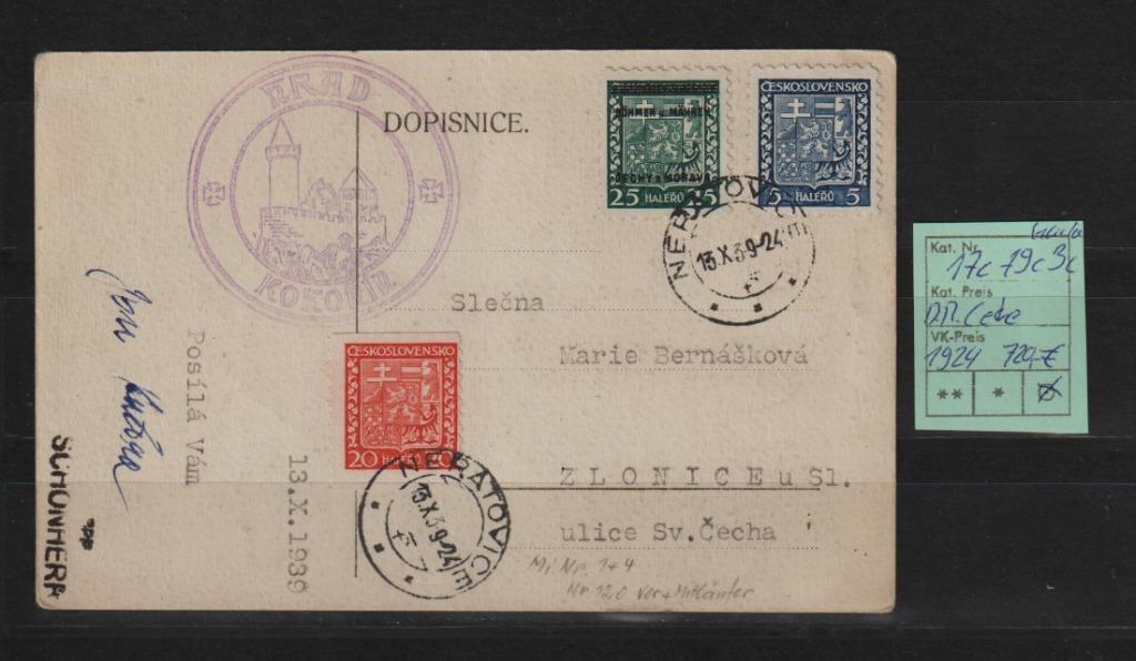 Niemcy D.R. okup cech 5c-17c-19c na karta spr. BPP