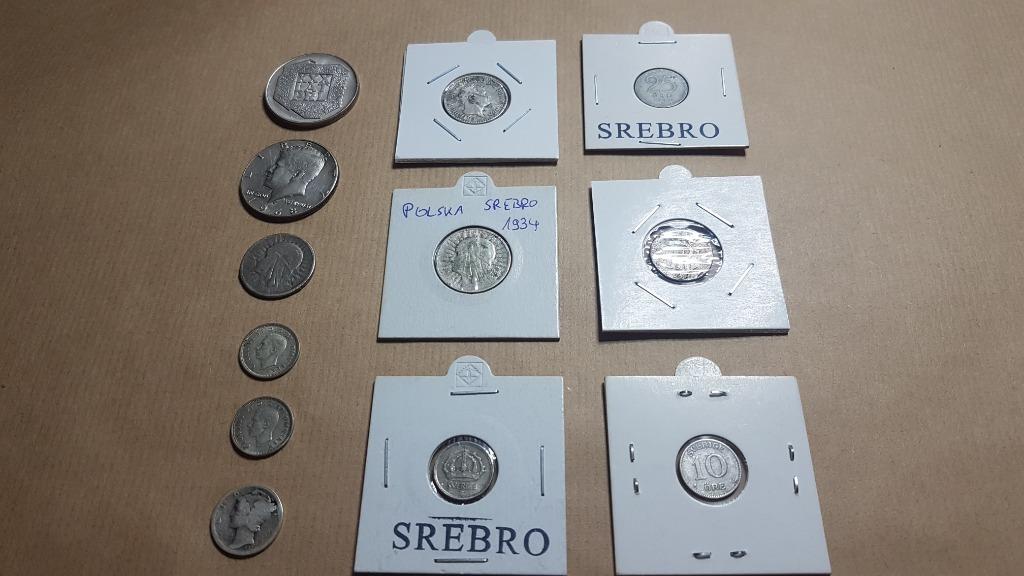 Kolekcja Zestaw monet srebro