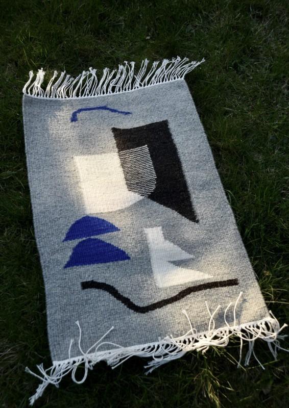 Unikatowy kilim, dywan, wełna, 50 x 80 cm