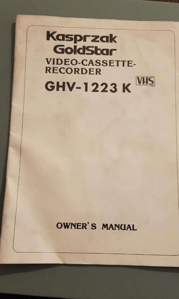 GoldStar Kasprzak GHV-1223 K instrukcja