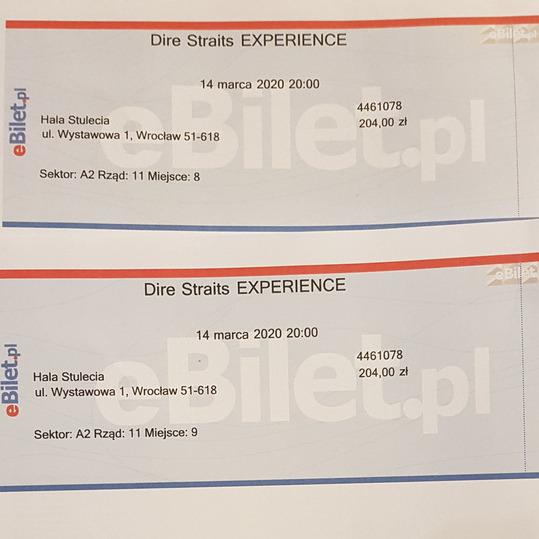 Bilety na koncert Dire Straits Wrocław