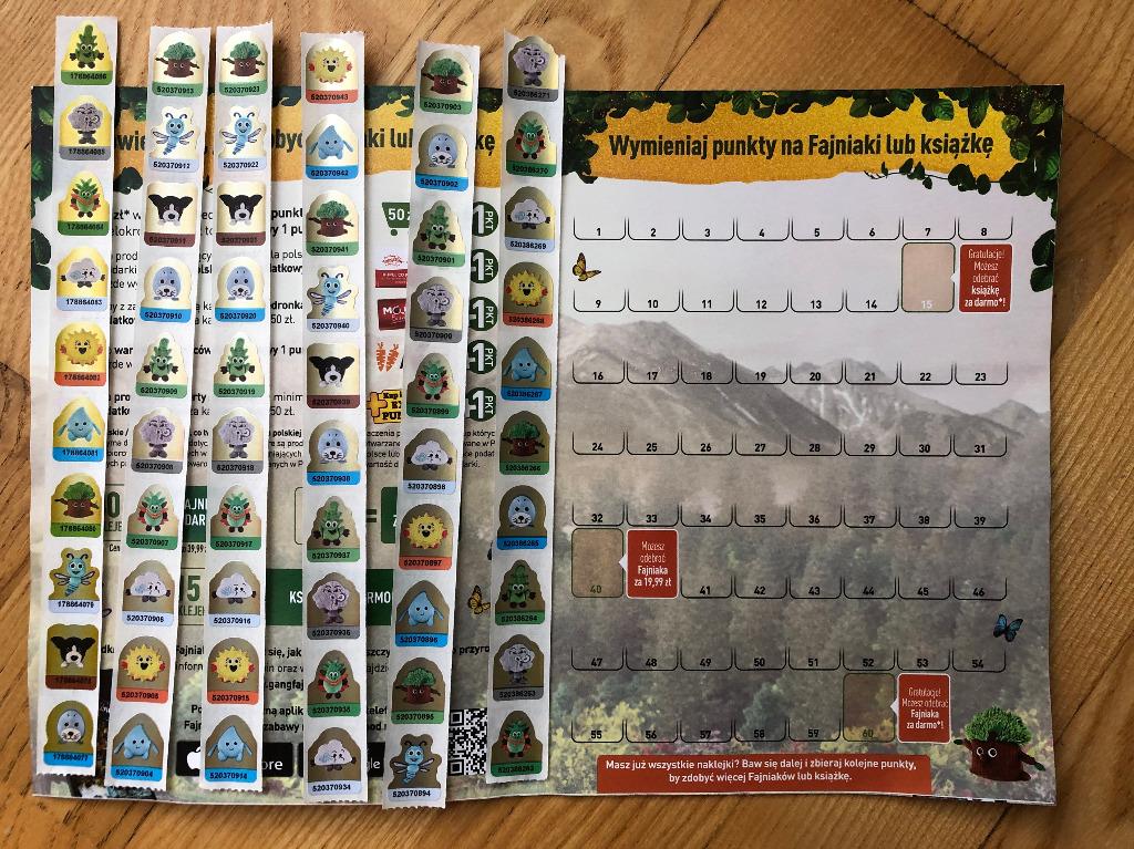 480 Naklejek Fajniaki Gang Fajniakow Biedronka Kup Teraz Za 230 00 Zl Ustanow Allegro Lokalnie