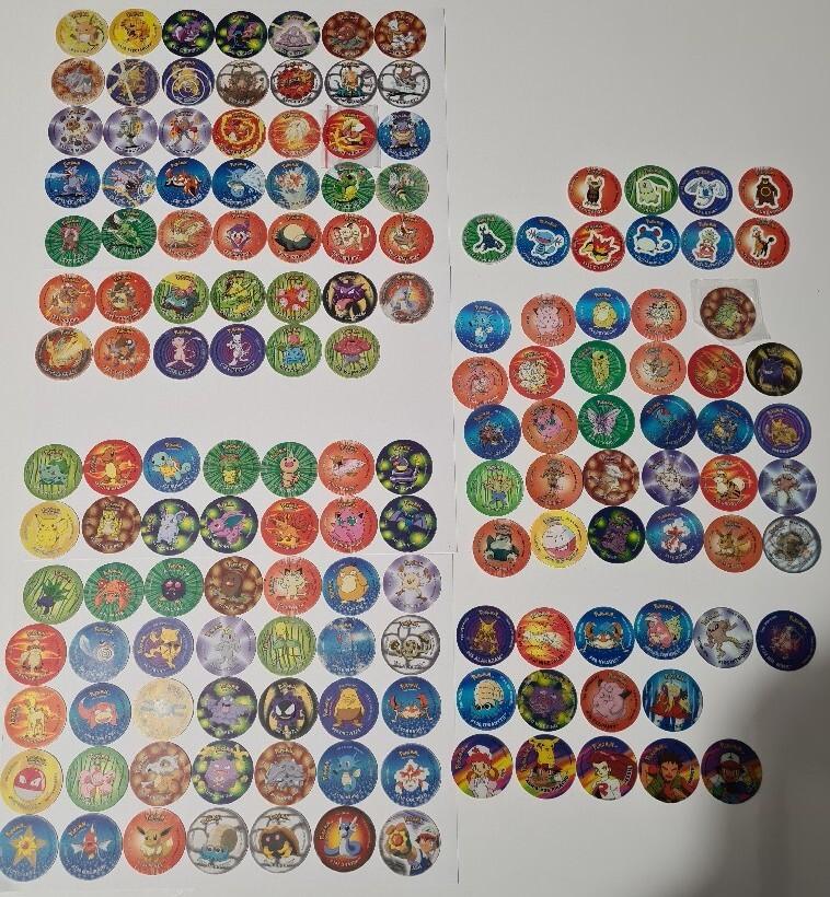 Pokemon tazo zestaw kolekcja