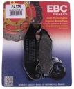 Колодки тормозные ebc honda cbf 125 2009-15 перед