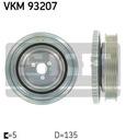 Вал коленчатый колеса pasowego skf vkm 93207