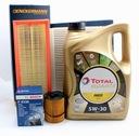 Фильтры+масло total5w30 5l citroen c3 c4 1.6 hdi