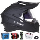 Ls2 mx701 explorer черный mat шлем cross enduro