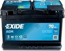 Аккумулятор exide agm 70ah 760a старт/ стоп