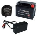 Аккумулятор moretti 12v 4ah ytx4l-bs зарядка led