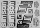 Наклейка наклейки simson enduro s51 ifa