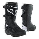Ботинки fox junior comp black черный белый gratisy