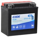 Аккумулятор exide etx14-bs 12v 12ah 200a