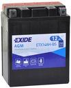 Аккумулятор exide ytx14ah-bs yb14-a2 yb14-b2 agm