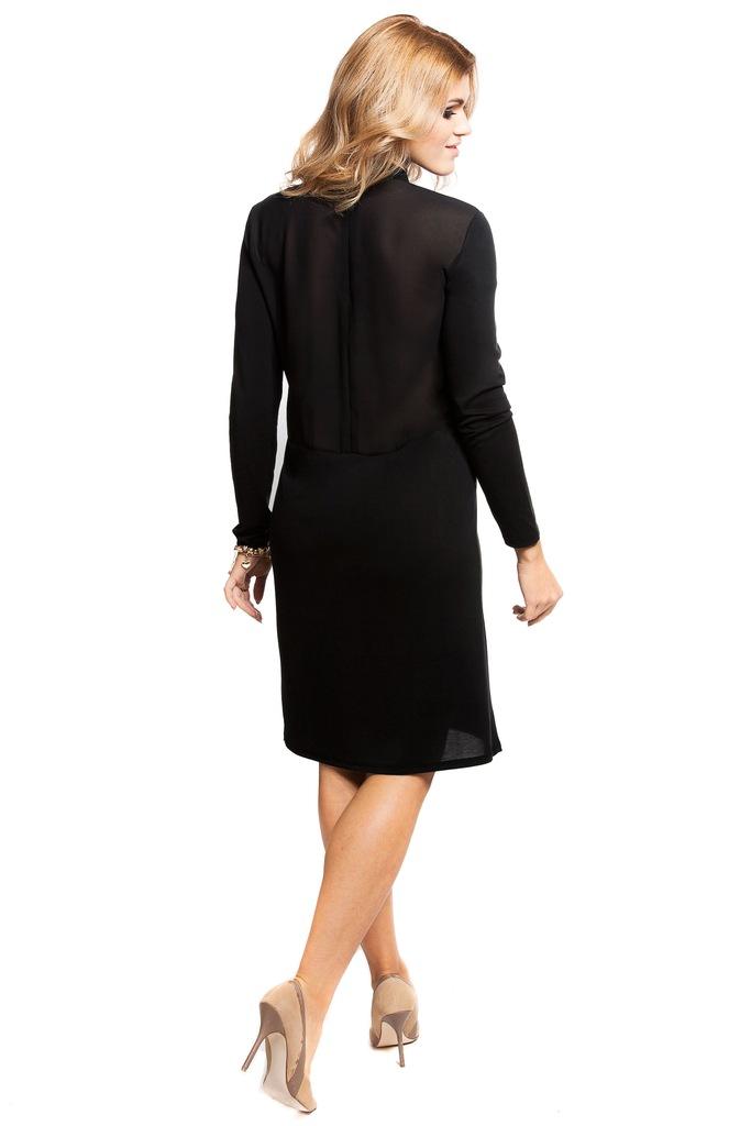 Sukienka Pieces PCHANE LS T-NECK DRESS 17080967 czarny L
