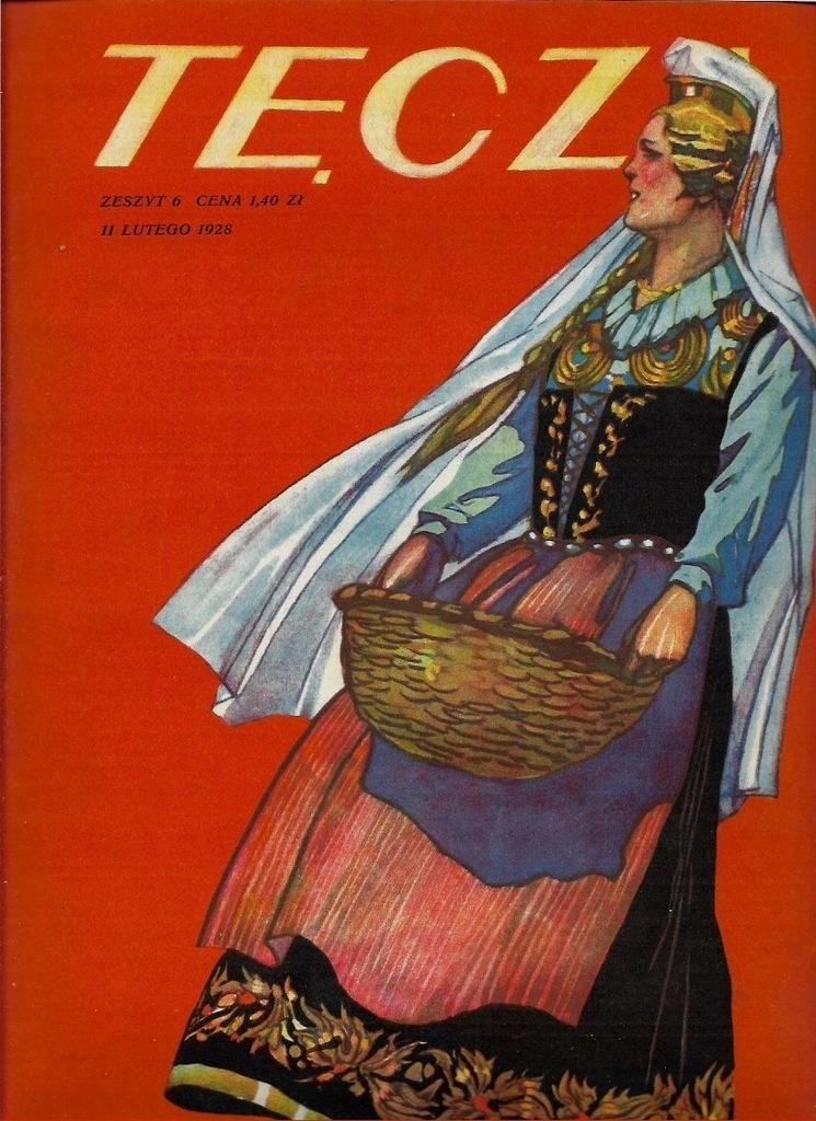 TĘCZA 1928 6 Grafika Norblin Lwów Verne