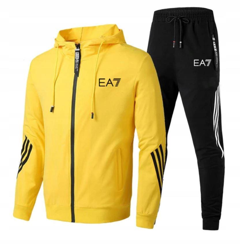 Męskie Sportowe Dresy Bluza na Zamek + Spodnie 5XL