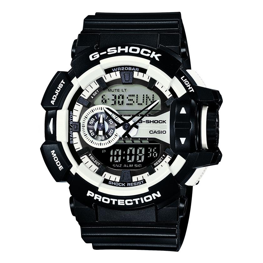 Oryginalny Zegarek Casio G Shock GA 400 1B Szary