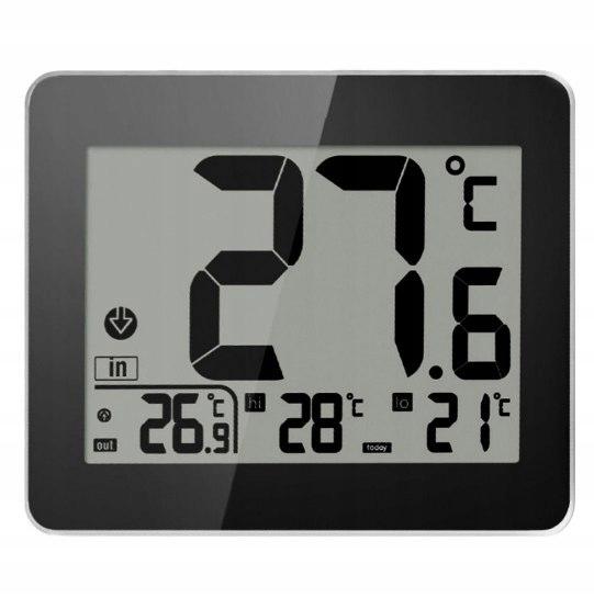HOT produkt Termometr wew zew zegar baterie czujn