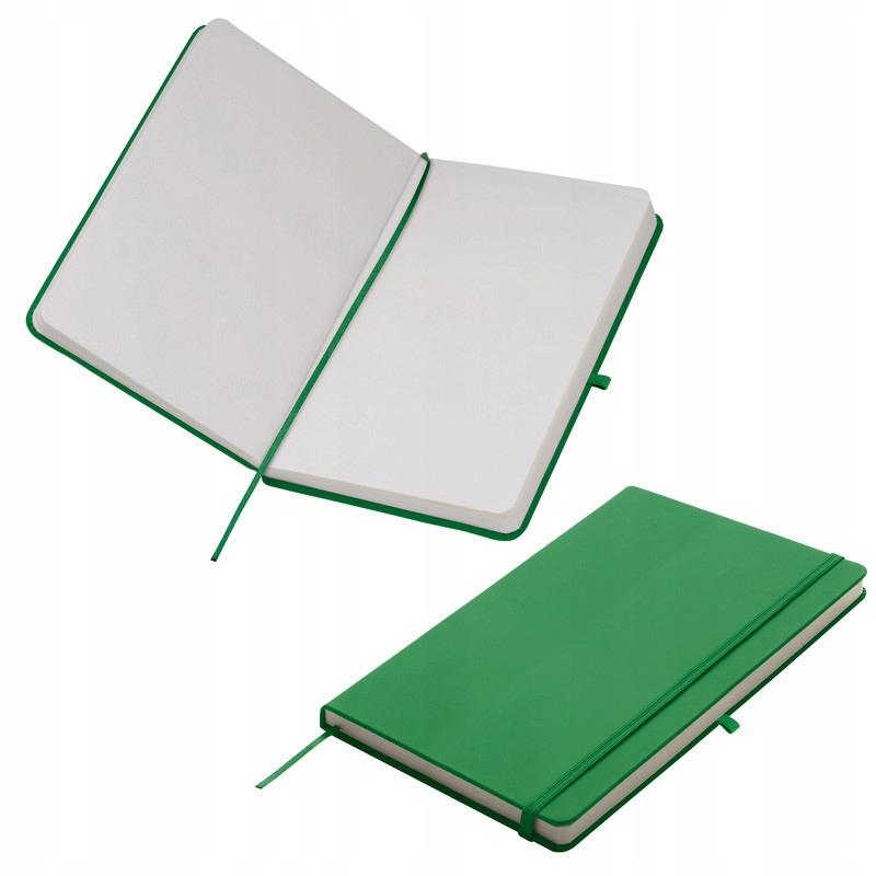 NOTES A5 Z GUMKĄ - zielony karton 50szt.