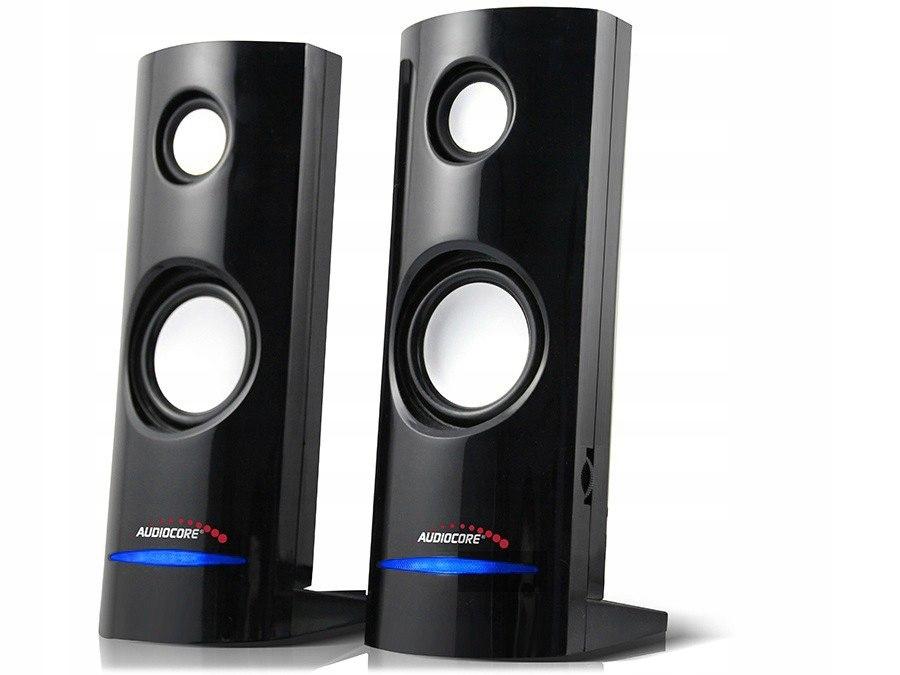 Głośniki komputerowe 8W USB Black Audiocore AC860