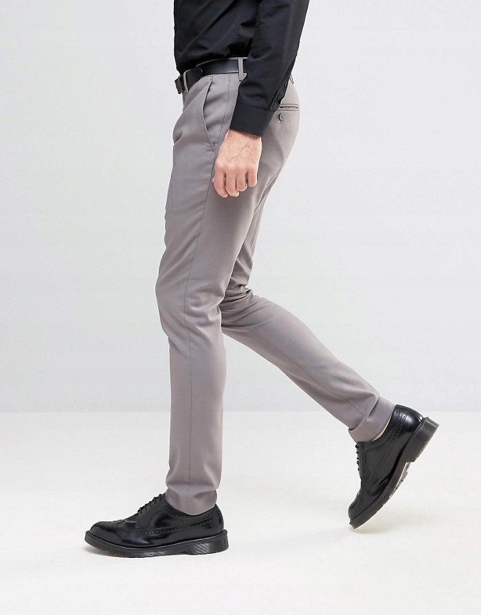 ONLY & SONS Szare spodnie w kant (W32L34)