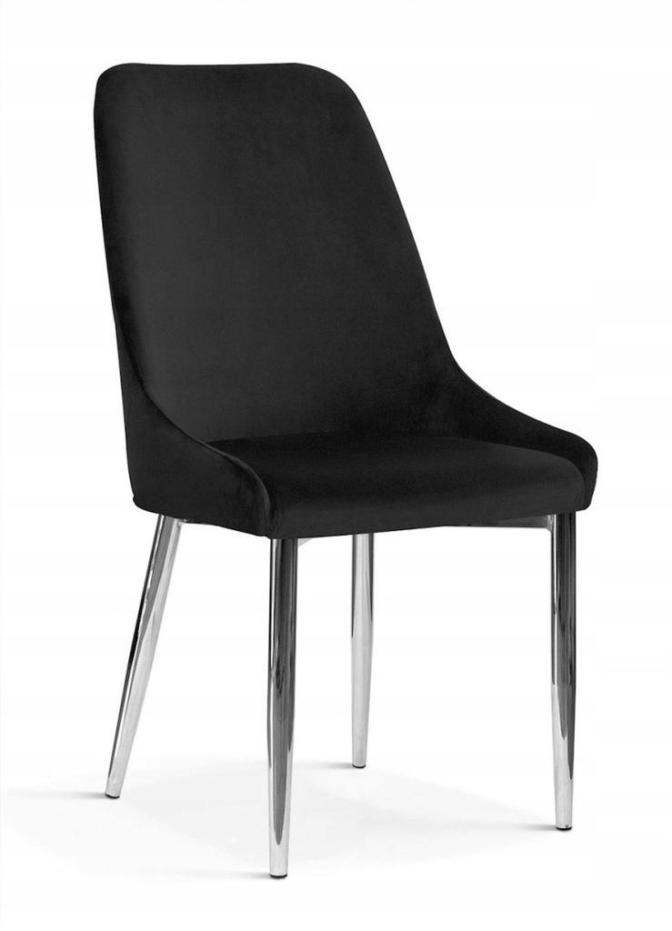 Krzesło OLIVIER M czarny/ noga chrom/ BL19