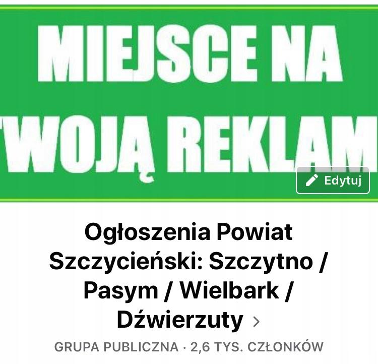 Grupa na Facebooku Ogłoszenia Powiat Szczycieński