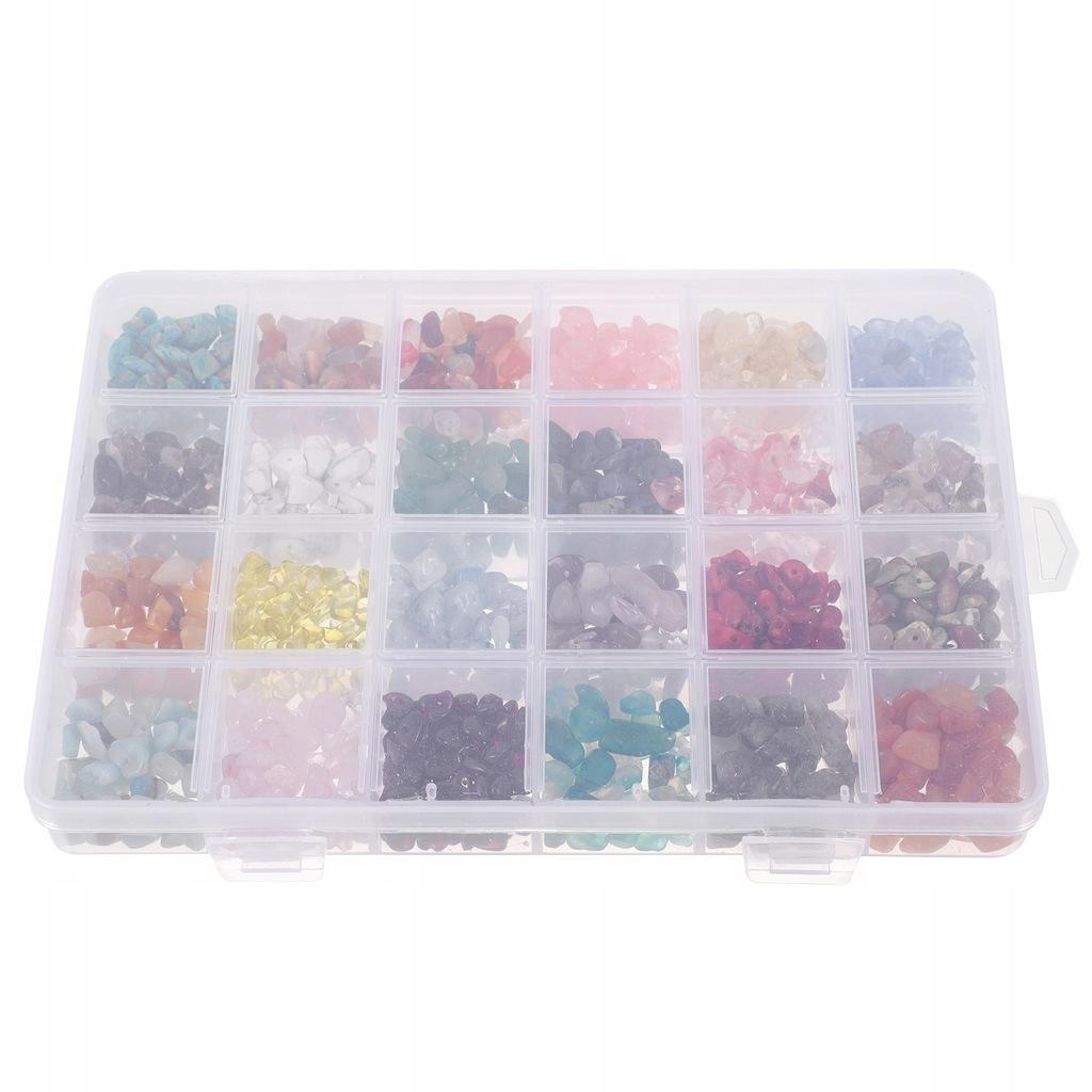 1 pudełko z kamienia koraliki dystansowe luźne kor